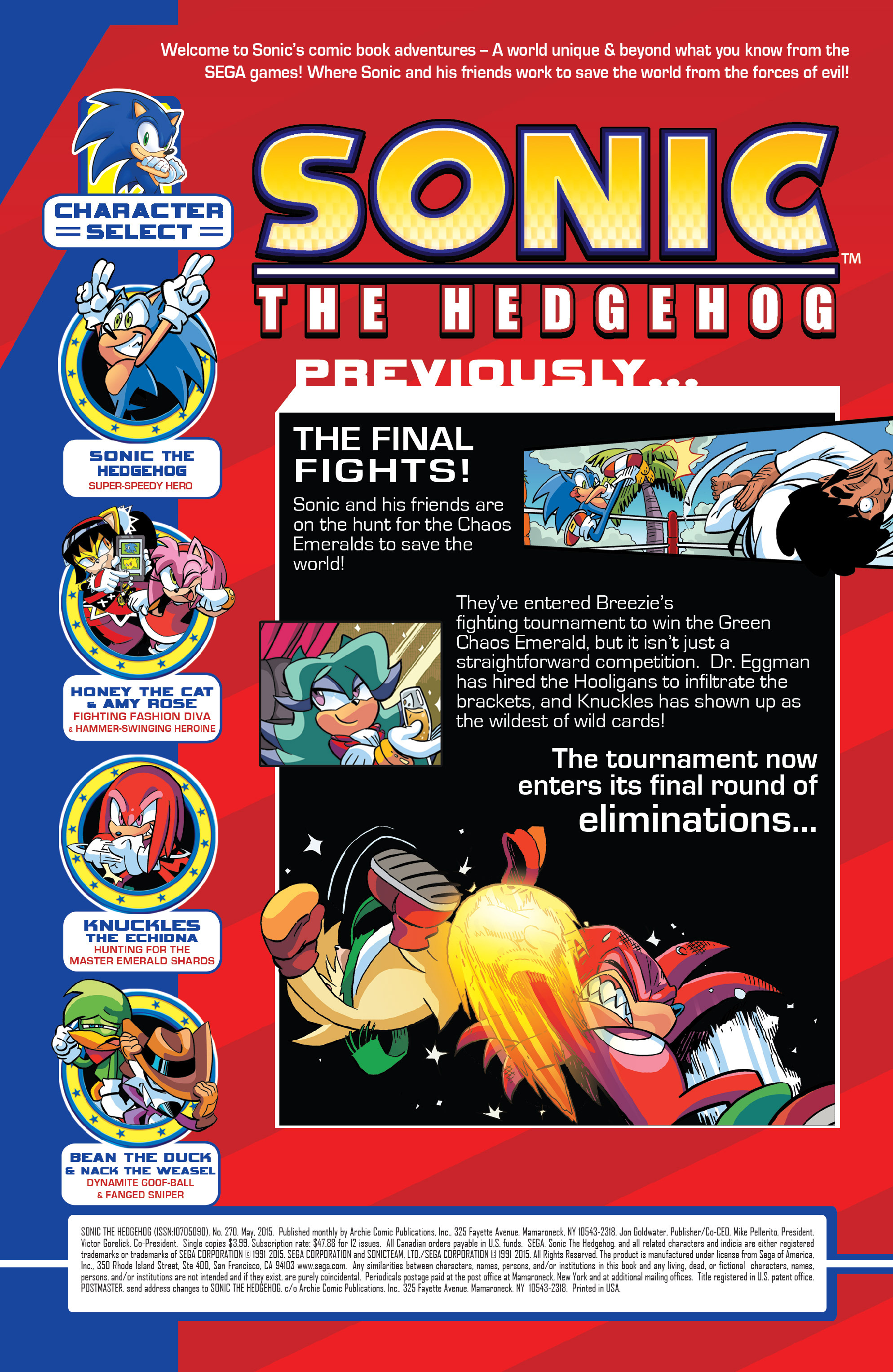 Read online Sonic The Hedgehog comic -  Issue #270 - 2