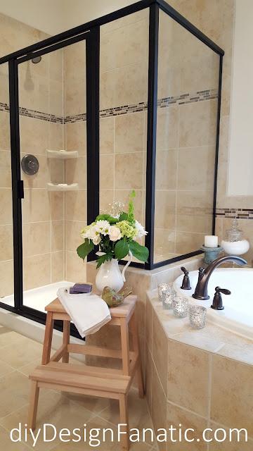 bathroom, make your Master Bath Your Sanctuary, cottage, cottage style, farmhouse, farmhouse style, master bath, diyDesignFanatic.com