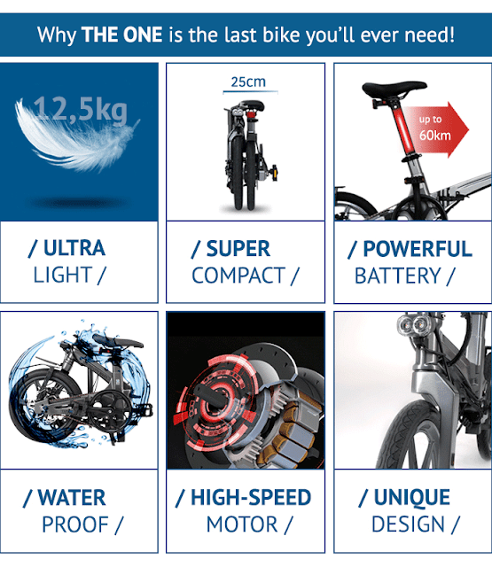 THE ONE U-Series | Sepeda Lipat Elektrik Paling Ringan Di