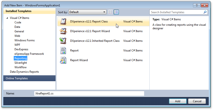 Devexpress Download Page: Create a Data-Aware Report