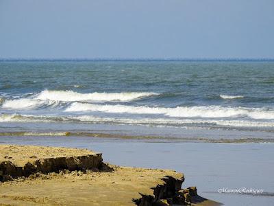 Fálesia de areia no balneario cassino