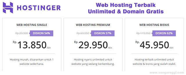 Hostinger Web Hosting Murah dan Terbaik Indonesia