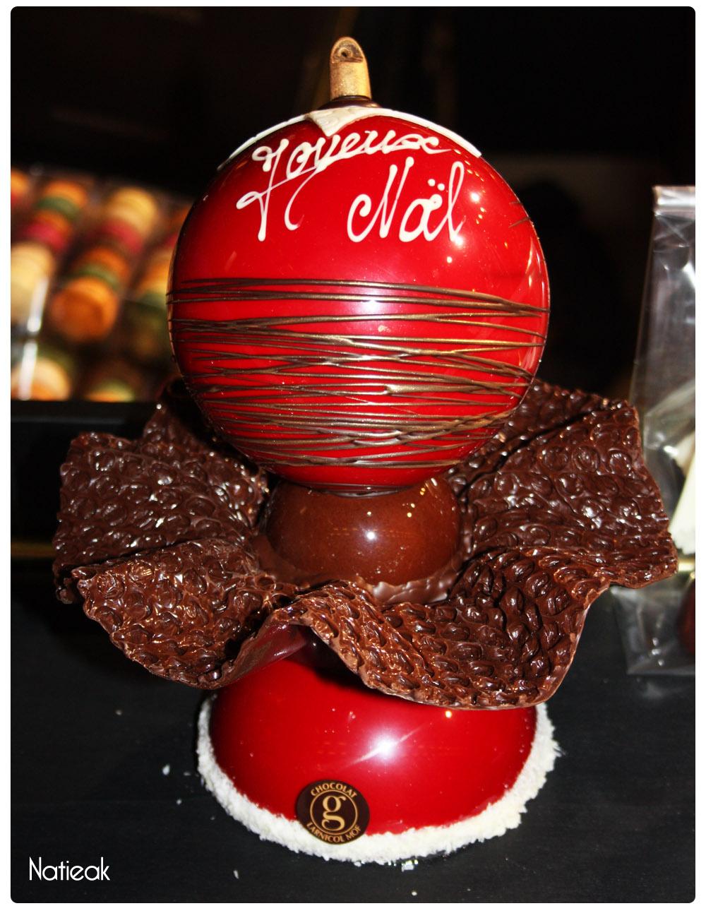 boule de Noël en chocolat de Nicolas Larnicol