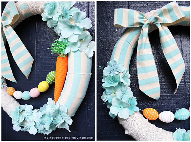 spring to easter wreath, decorating the outside door, wreath making DIY