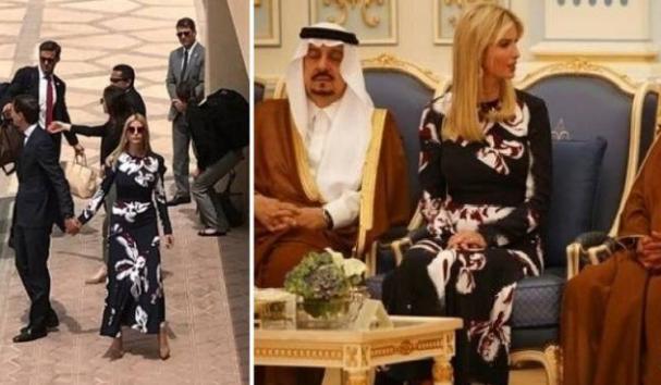 فيديو| ايفانكا ترامب بإطلالة مثيرة وتثير ضجة في السعودية إليكم ماذا فعلت...