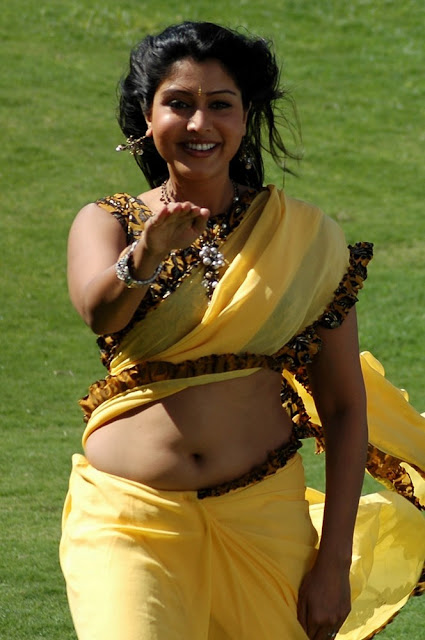 Hot navel Sari Malayalam actress
