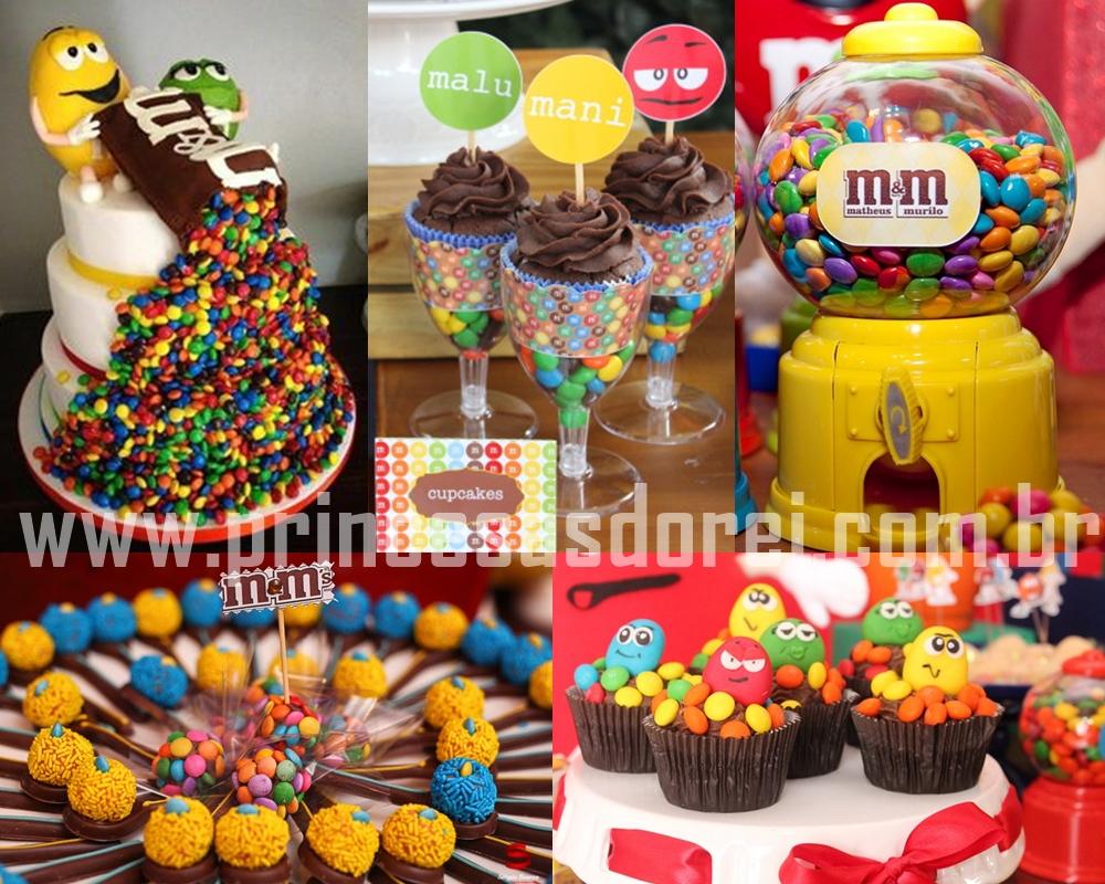 mems festa m&ms doces brigadeiros bolo cake sorvete