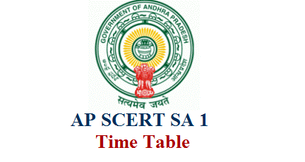 Andhra Pradesh State Council for Education Research and Training SCERT released Common Time Table to conduct CCE Summative Assessment SA 1 in AP. SCERT AP instructed DEOs to conduct SA I Exams for High School and Primary AP SA 1 Time Table Download ap-scert-common-time-table-for-sa-1-sumative-assessment-schedule-andhra-pradesh-download