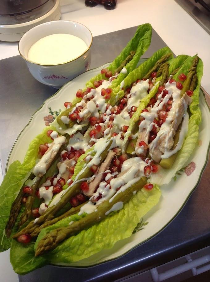 Ensalada de Espárragos Trigueros con Salsa de  Yogur: recetas de Ely