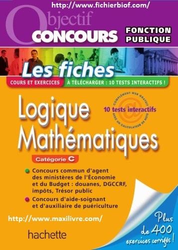 Fiches - Logique, attention, mathématiques, catégorie C