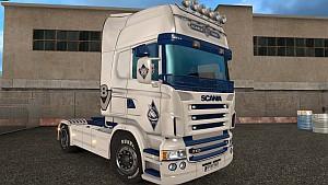Scania RJL V8 Blue Vikings skin