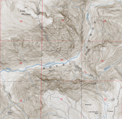 US Topo Terrain Relief vector map 01 02 SPHERE projection Adobe illustrator