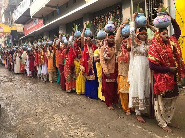 वीना पाणि कला केंद्र के द्वारा प्राण प्रतिष्ठान का आयोजन, निकाला गया भव्य कलश यात्रा