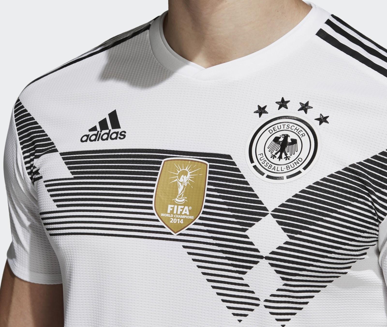 0bdbdad04e226 Adidas lança a nova camisa titular da Alemanha para Copa do Mundo ...