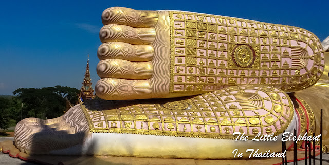 A huge foot of Lord Buddha in Den Chai, North Thailand
