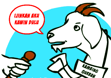Gambar DP BBM Bergerak Lucu Lebaran Idul Adha