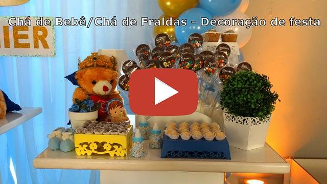Vídeo decoração de festa Chá de Bebê