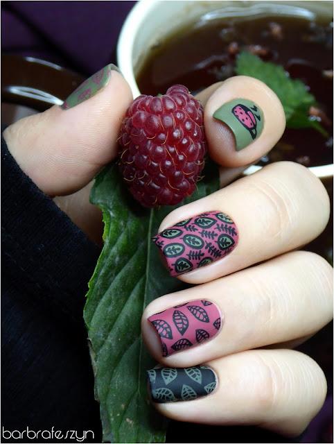paznokcie malinowe