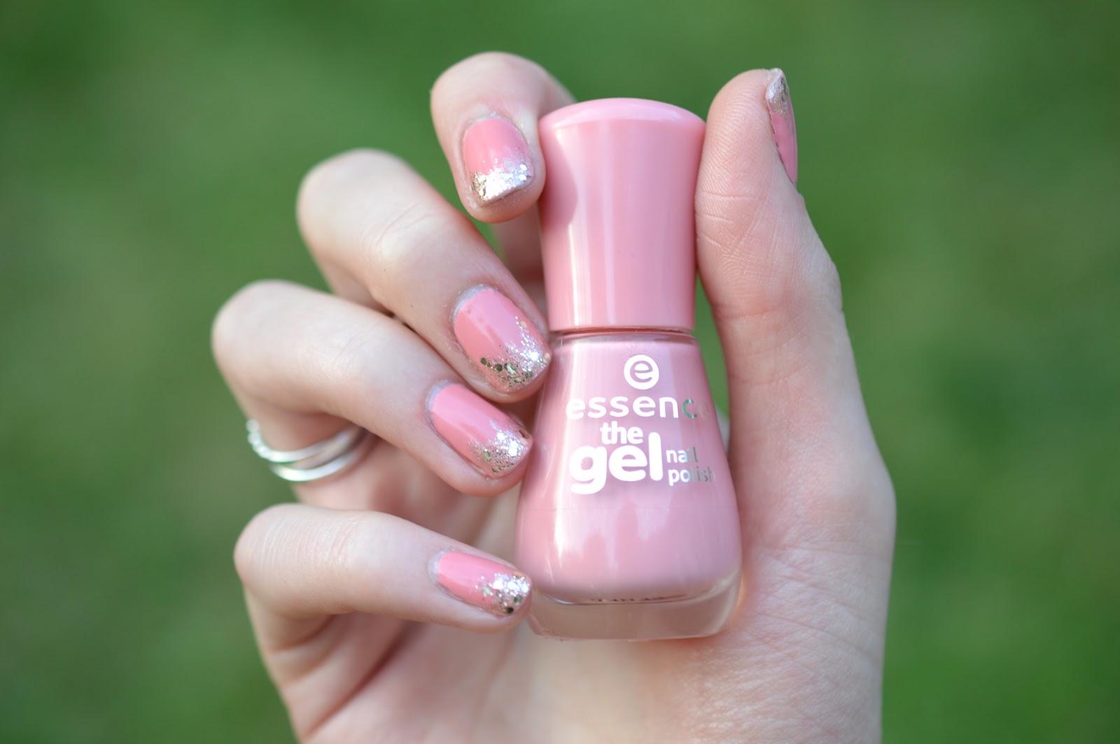 glitter tip mani