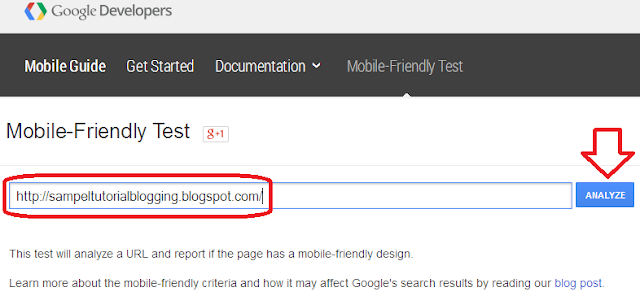 Cara Test Mobile Friendly pada Blog