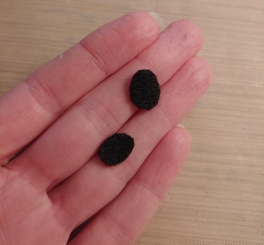 black felt ovals