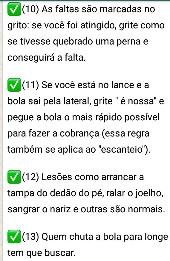43c1be36fa INFORMATIVO WILDES BRITO  REGRAS DO FUTEBOL DE RUA NA INFÂNCIA