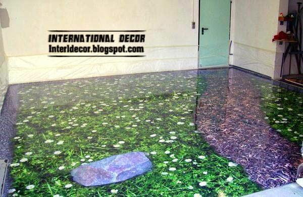 Liquid 3d floors and floor murals for bedroom flooring for Unusual floor coverings