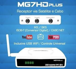 ATUALIZAÇÃO MEGABOX MG7 PLUS / MG5 PLUS - 17/04/2018
