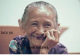 Hasil gambar untuk gambar nenek ketawa