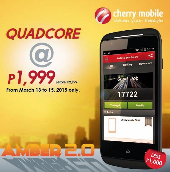 Cherry Mobile Amber 2.0, Quad Core For Only Php1,999