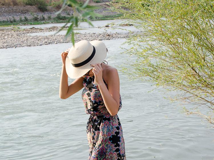 fashion-blogger-maxi-dress-mango-straw-hat