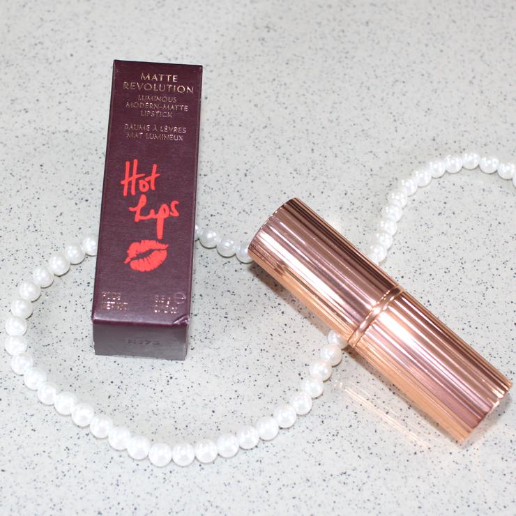 Review and swatches of Charlotte Tilbury Matte Revolution Hot Lips Lipstick Secret Salma.