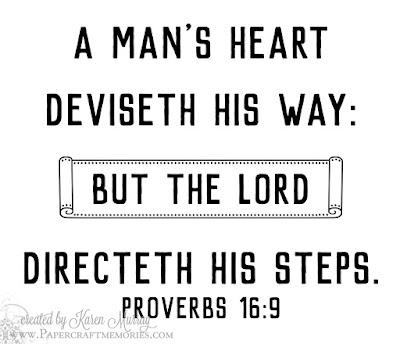 Papercraft Memories: Proverbs 16:9 WORDart by Karen