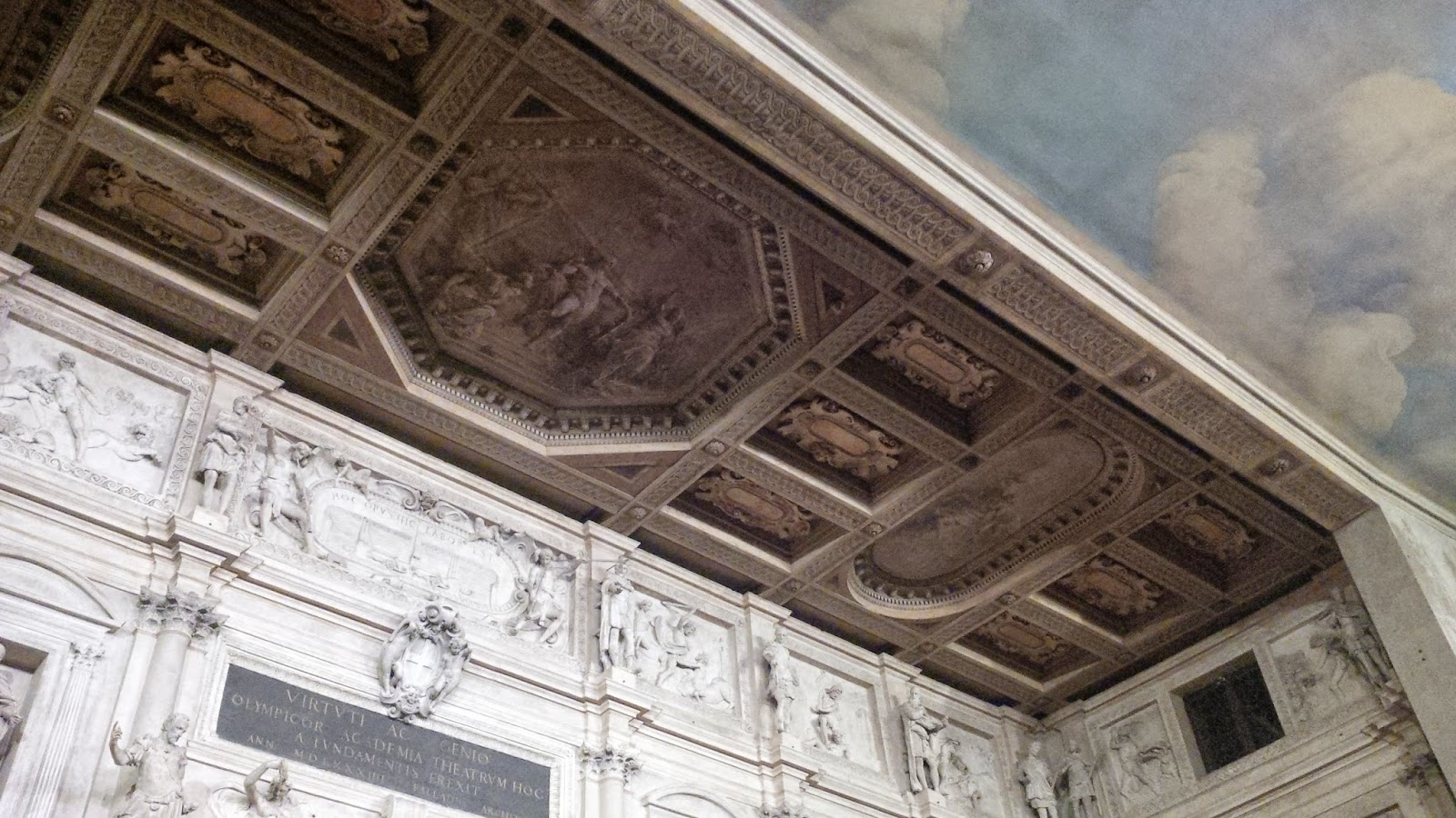 The ceiling of Teatro Olimpico in Vicenza