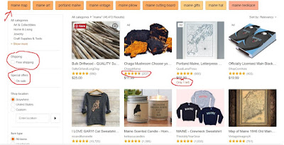 Etsy guided search