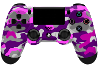 pink camouflage PlayStation controller