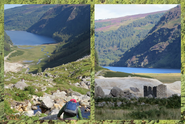 Hillwalking at Glendalough in County Wicklow - Rocky Descent Towards Upper Lake
