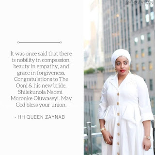 Queen Zaynab Forgives Ooni Of Ife