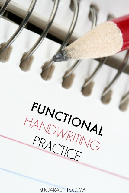 Functional and meaningful handwriting activities for reluctant writers.  These are motivating activities for kids who don't like to practice handwriting.