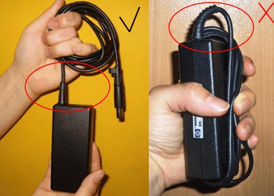 Cara baik dan benar Menggulung Kabel Charger Laptop
