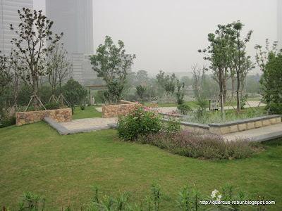 Parque hermano de donde encontré el geocache en Wuxi  Taihu Square