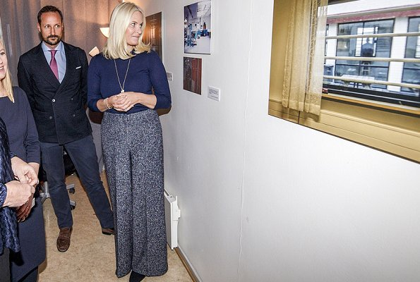 Crown Prince Haakon and Crown Princess Mette-Marit of Norway visited The Organisation for Families and Friends of Prisoners
