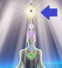 靈魂之星脈輪發出一道光柱