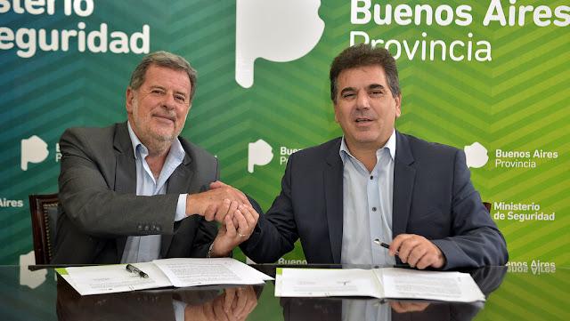 Ritondo y Elustondo firmaron convenio para fortalecer la capacidad tecnológica en la lucha contra el delito