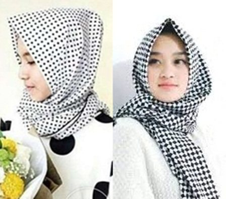 Top Fashion trend in 2016 and modern hijab monochrome