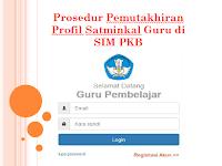 Prosedur Pemutakhiran Profil Satminkal Guru di SIM PKB