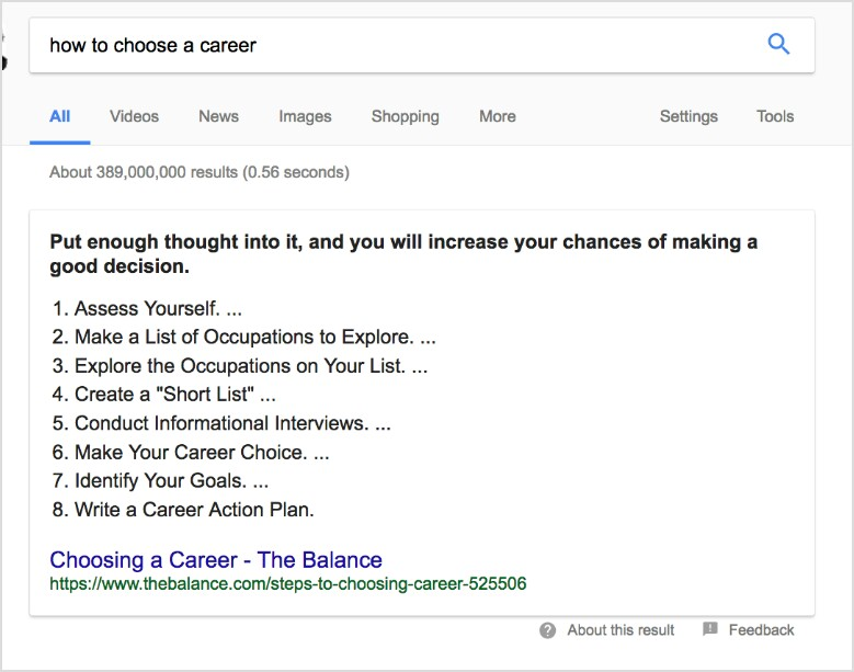 Cuplikan Unggulan Google