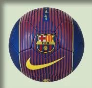 Bola com escudo do F.C. Barcelona