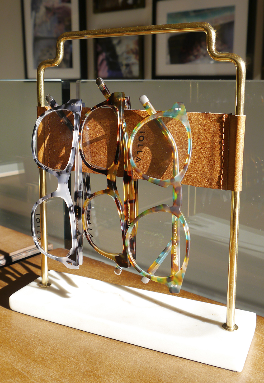 Colourful IOLLA spectacles in their new Stockbridge, Edinburgh store