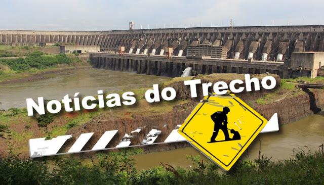 Resultado de imagem para noticias trecho Itaipu